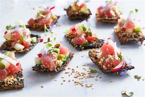 nori cracker poke recipe  homes  gardens