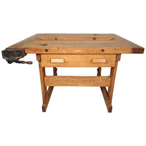 vintage work bench vintage work bench with vice at 1stdibs