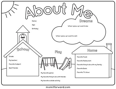 about me template for 6 best images of all about me printable template all