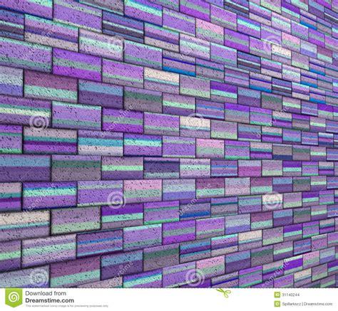 Wall 3d Brick Br1317 Blue 3d mosaic tile brick wall in purple blue stripe stock