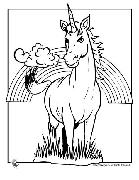 unicorn with rainbow coloring page free unicorn coloring pages az coloring pages