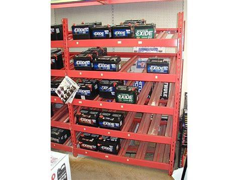 Battery Shelf by Battery Storage Rack Handy Store Fixtures