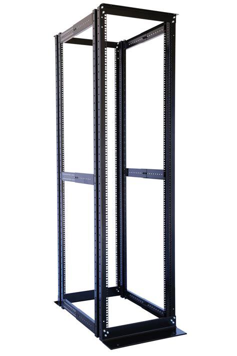 Four Post Rack by 42u 4 Post Open Frame Server Data Rack 19 Quot Adjustable