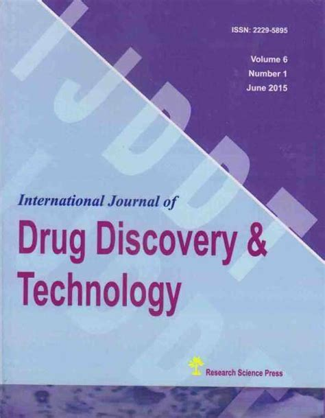 drug design discovery journal international journal of drug discovery and technology