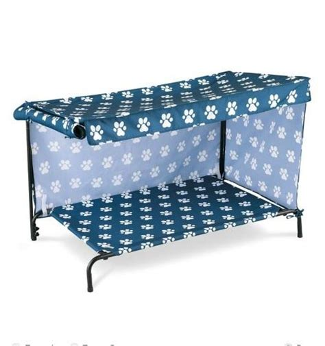 outdoor dog bed with canopy indoor outdoor dog bed with canopy sun shade 2 sizes 4