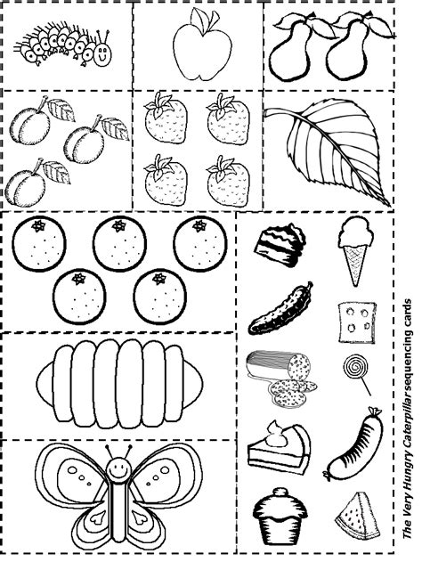 hungry caterpillar free printable coloring page for