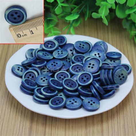 Kancing Kayu Wooden Button 15mm 11 100pcs unique 15mm blue wooden 4 holes button diy sewing scrapbooking garment