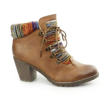 rieker 95323 22 womens funky heeled ankle boots