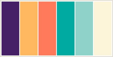 colour combo colorcombo7625 with hex colors 462066 ffb85f ff7a5a