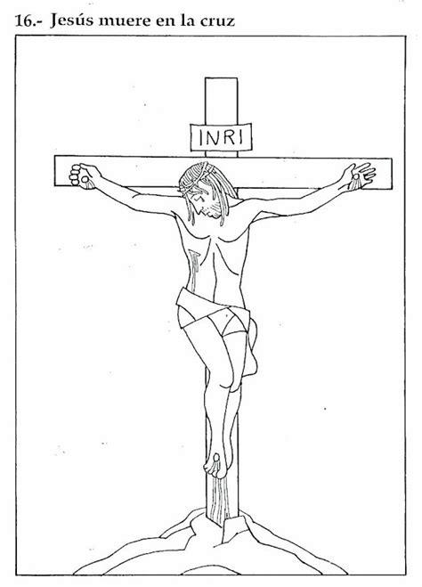 imagenes de jesus para colorear imprimir pinto dibujos jes 250 s muere en la cruz dibujo para