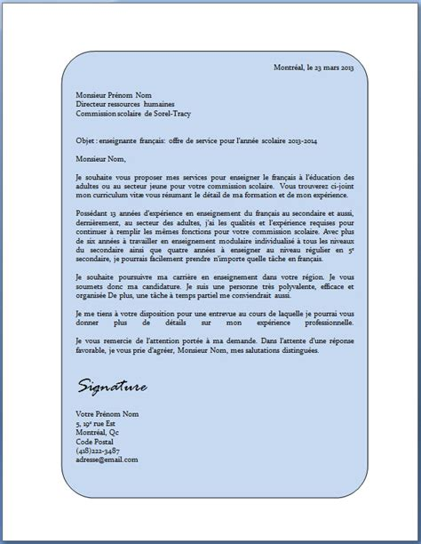 Exemple De Lettre Cv Cv Motivation Exemple