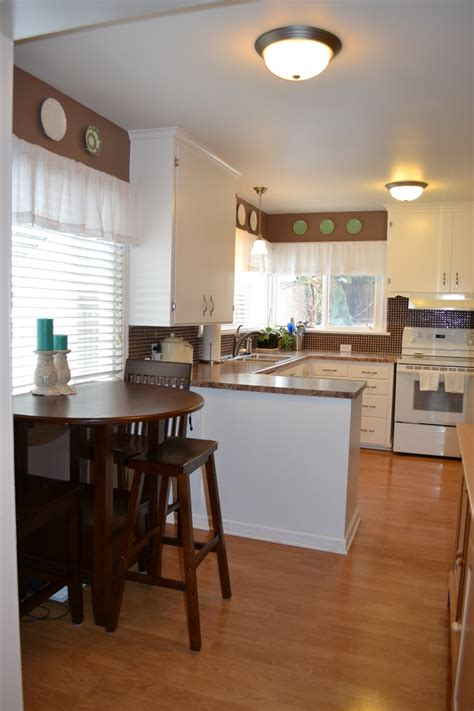 Cute small kitchen with breakfast nook   For the Home