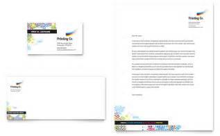 Business Letterhead Samples Printing Company Business Card Amp Letterhead Template Design
