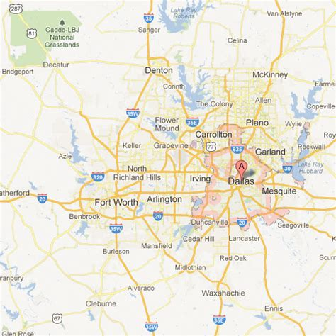 map dallas texas surrounding area texas maps tour texas
