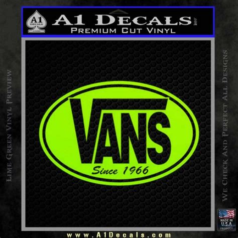 Sweater Vans Sweater Vans Murah Vans Oblong Green vans decal sticker oval 187 a1 decals