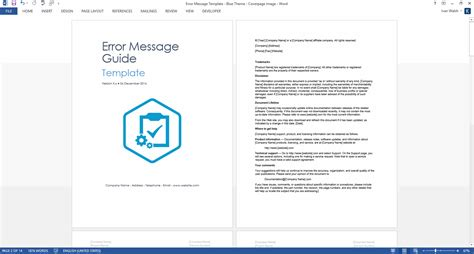 templates for error pages error message guide template ms word download