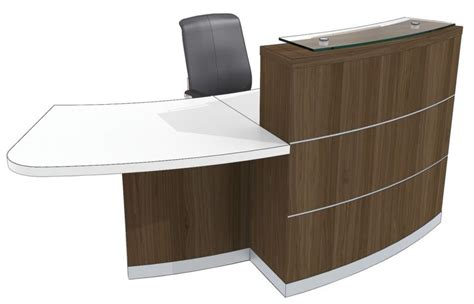 Accessible Reception Desk Curved Reception Desk Eclipse Right Office Reality