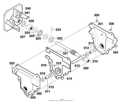 murray snowblower parts diagram murray 624604x89a dual stage snow thrower 2000 parts