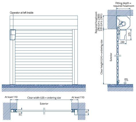 Overhead Door Specifications Overhead Door Specifications Hydrarol High Speed Rigid Roll Up Garage Door Direct Drive
