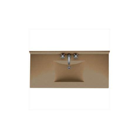 one piece bathroom vanity tops swanstone cv02249 091 barley contour one piece vanity top