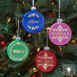 lighted ornaments birthstone lighted ornament
