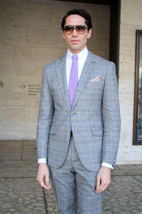 knit tie with suit mens blue plaid suit images