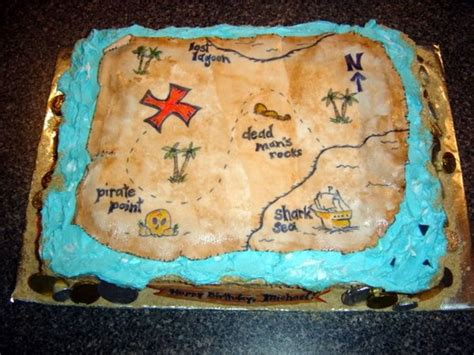 Home Decorating Forum Pirate Treasure Map Cake Cakecentral Com