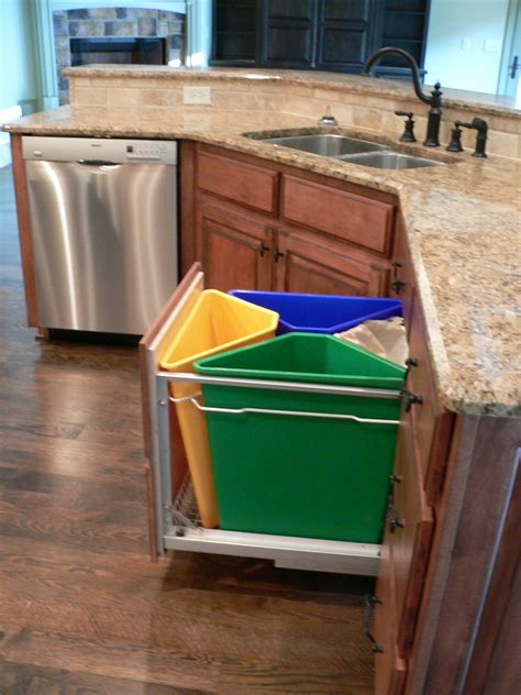 kitchen cabinet recycle bins how to create a recycling system that fits your lifestyle