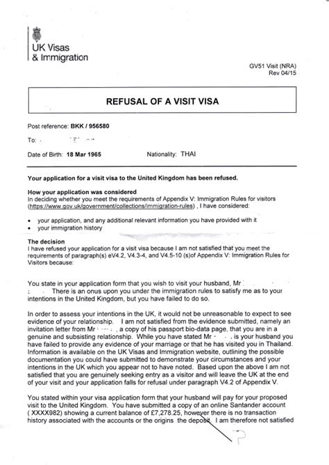 Sle Letter For Visa Refusal Our Experience Of Uk Visa Application Refusal Visas And Migration To Other Countries
