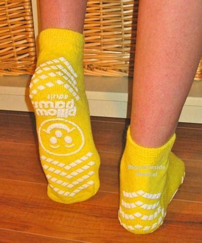 Pillow Paws Non Slip Socks by Non Skid Risk Alert Socks Yellow Color