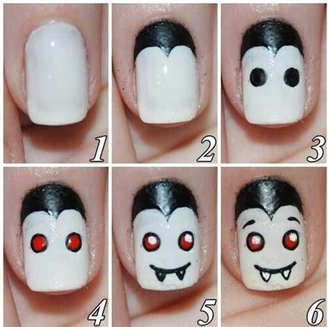 easy nail art halloween easy diy halloween nail art holiday beauty fashion
