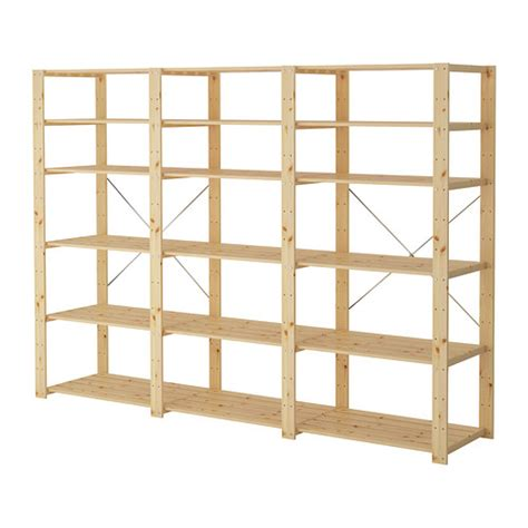 hejne 3 sections shelves ikea
