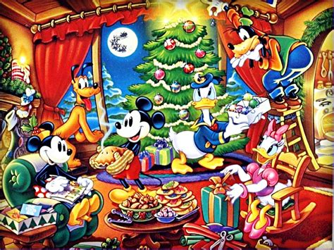 imagenes de navidad walt disney disney christmas backgrounds wallpaper cave