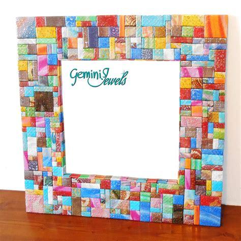 cornice mosaico specchio con cornice a mosaico fatto a mano cm 60x60