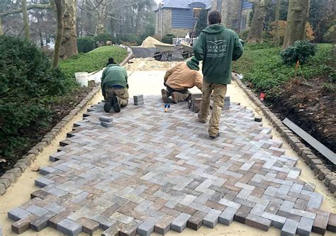 Rydal Driveway Pavers Installation Garrett Churchill How To Lay Pavers For Patio
