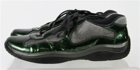 prada athletic shoes prada green gray lace up athletic sport sneaker running