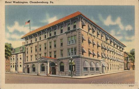 Post Office Chambersburg Pa by Hotel Washington Chambersburg Pa Postcard