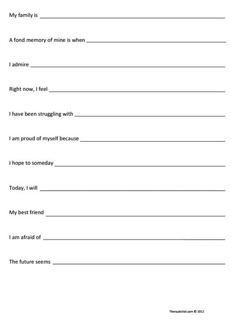 Self Awareness Worksheets by 25 Best Ideas About Self Esteem Worksheets On