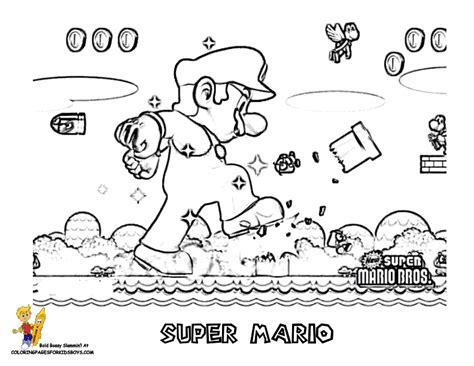 amazing coloring pages mario bros coloring pages