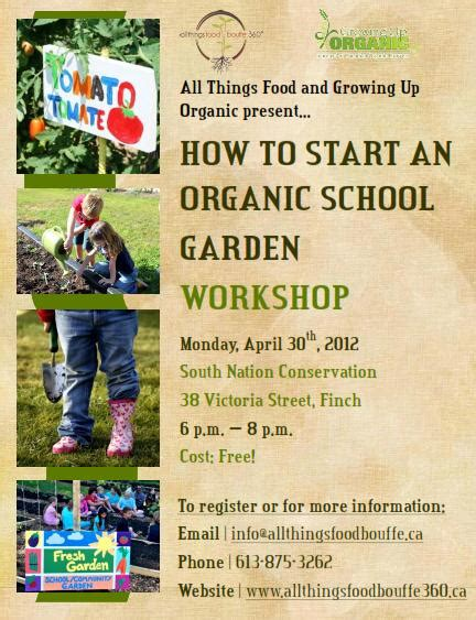 how to start an organic garden in your backyard how to start an organic school garden workshop april 30