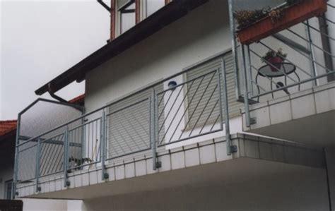 Balkongeländer Mit Treppe by Gel 228 Nder Balkongel 228 Nder Feuerverzint Mit Seitlichem