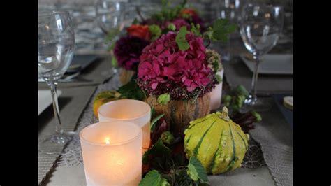 tischdeko dinner herbst tischdeko dinner cookingflower youtube