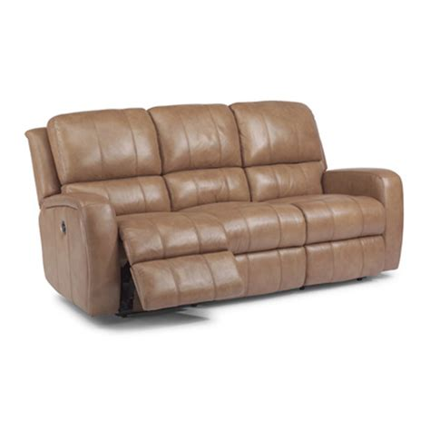 flexsteel 1157 62p hammond leather power reclining sofa