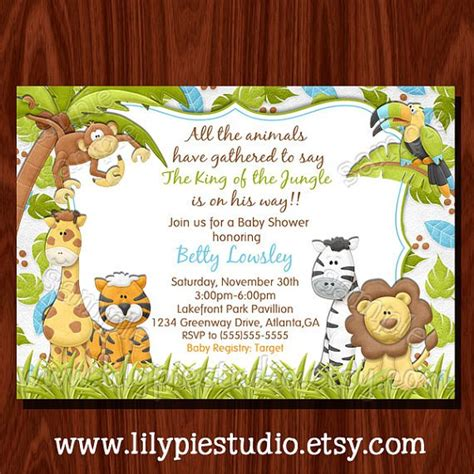 Safari Themed Baby Shower Invitations by Safari Baby Shower Invitations Templates