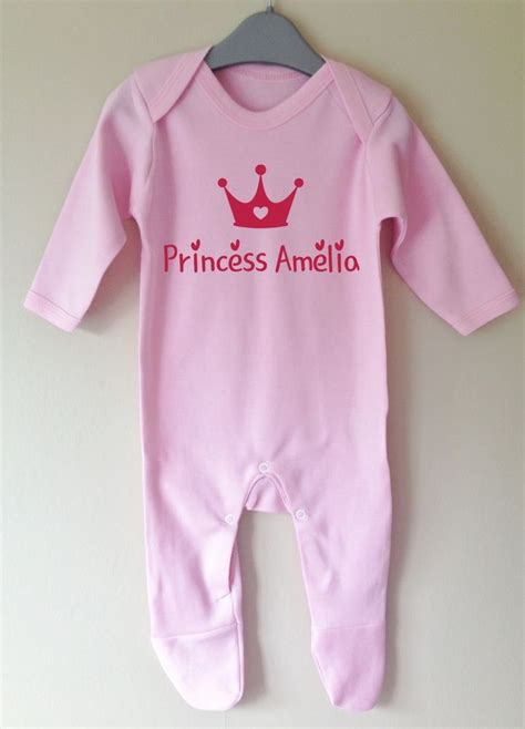 baby clothes s s world princess personalised baby grow gro sleepsuit boy