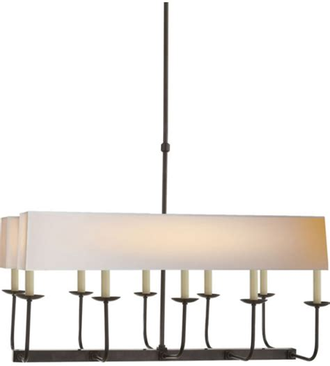 Branched Chandelier Visual Comfort Sl 5863bz Np2 E F Chapman Modern Linear Branched Chandelier In Bronze With