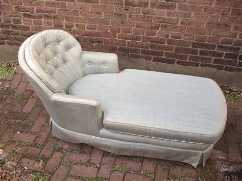 chaise lounge chairs for bedroom vintage chaise lounge chair tufted blue bedroom by