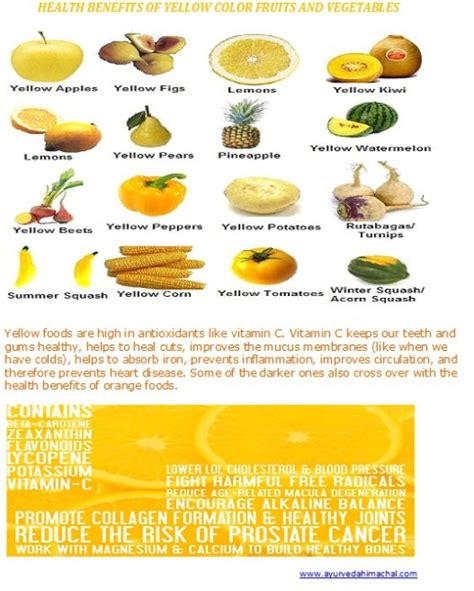 vegetables and their benefits yellow fruits a great blessing part1