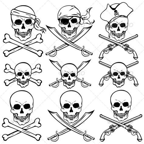 tattoovorlage cartoon stock vector graphicriver vector set of pirate skulls