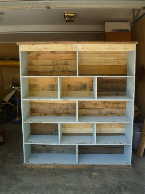 how to make pallet bookshelves bookcase made with pallets pallet furniture